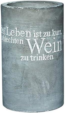 """Vino Beton Weinkühler /""""Leben Lieben Lachen Lallen/"""" Räder Design"""
