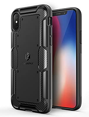 iPhone X Case, iPhone 10 Case, Anker KARAPAX Shield Case With Carbon Texture and Good Grip Soft TPU [Support Wireless Charging] [Slim Fit] for Apple 5.8 In iPhone X (2017) - Black