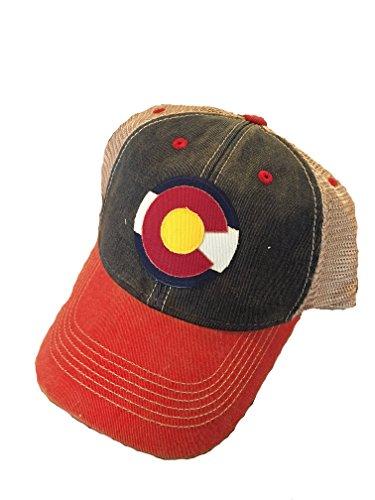 Legacy Athletic Colorado Flag Trucker Cap (Navy/Scarlet)