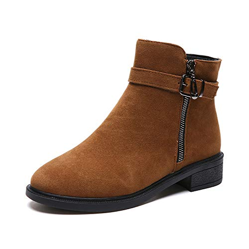 HOESCZS Frauen Schuhe Stiefel Stiefel Stiefel Kinder Winter Studenten Wild Martin Stiefel Frauen Flache Niedrige Stiefel e8a129