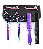 LIGICKY Hair Cutting Scissors Kit Professional Stainless Steel Hairdressing Scissors Set Hair thinning