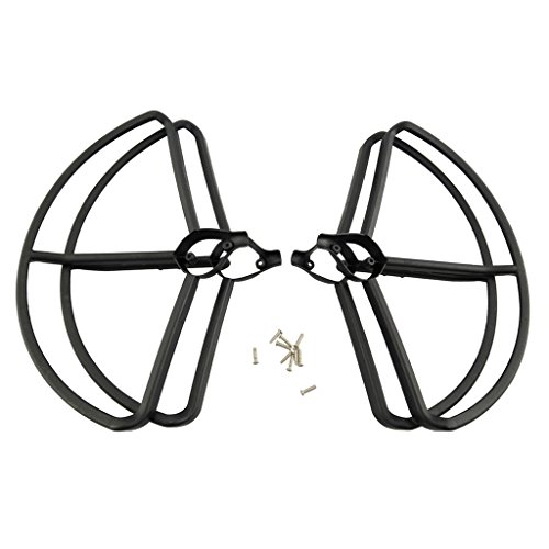 Jili Online 4 Pieces Propeller Cover Protective Guard Circle Ring Frame for Hubsan H501S H501C RC Toy Drone Quadcopter Accessory Black by Jili Online