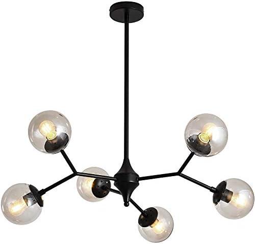 UOFUS 6-Light Chandelie Rustic Vintage Ceiling Light