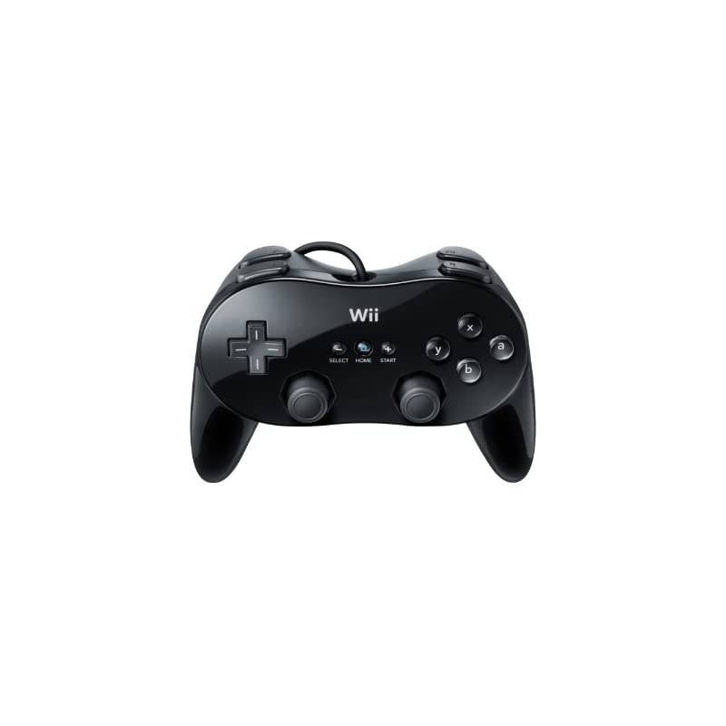 Wii Classic Controller Pro - Black - Nintendo Wii Standard Edition