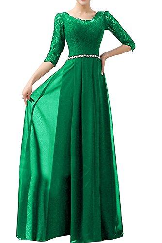 Rock Grün Blau Abendkleider Langarm A Damen Ballkleider Partykleider Linie Festlichkleider Braut Chiffon mia La FwqH77