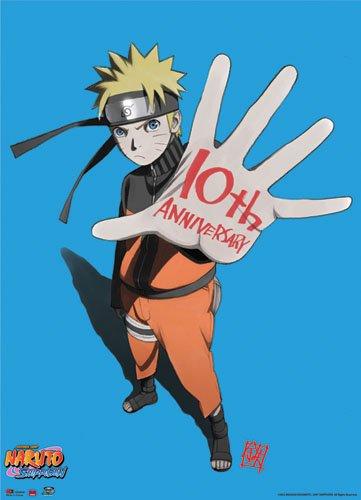 Naruto 10th Anniversary Naruto Shippuden Wall Scroll GE Anim