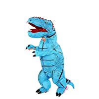 New Inflatable Dinosaur Costume T-Rex Costume Adult Blow Up Halloween Party Fancy Dress