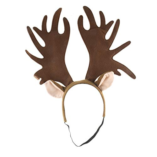 TG,LLC Large Moose Antler Headband Adult Costume Party Hair Band Theater Prop Accessory Brown]()