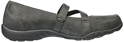Easy Taupe Skechers Women's Mary Tpe Calmly Breathe Janes Silver q65r6pnx
