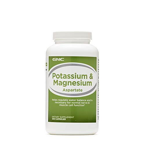 GNC Potassium Magnesium Aspartate Supplement, 240 Count, for Nerve and Muscle Cell Function