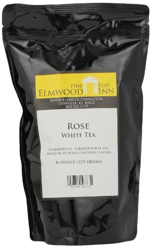 Elmwood Inn Fine Teas, Rose White Tea, 8-Ounce Pouch