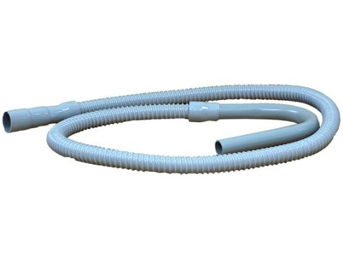 Supco SSD8 Washer Washing Machine Drain Hose - No-Kink PVC Poly Flow Hose, Fits Hundreds of Models - 8 Feet