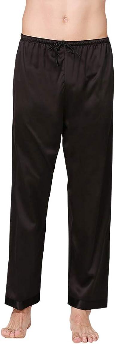 Dihope, pantalón bajo de pijama largo para hombre, ropa interior de noche, suave, ligera, informal, cómoda