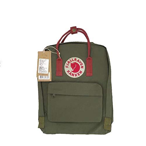 (DeLamode Sweden Logo Student Casual Shoulder Bags Colorful Canvas Backpacks 20L-Color02)