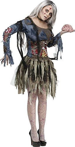 [UHC Women's Sexiest Zombie Outfit Horror Theme Fancy Dress Halloween Costume, M/L (10-14)] (Sexiest Superheroes)