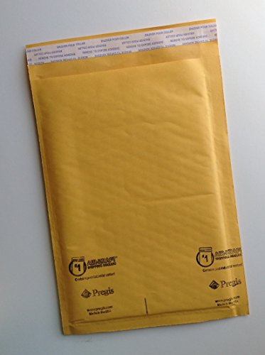 """AIR-KRAFT Air-Cushioned / Kraft Self-Seal Bubble Mailers, Size 1 (78131), 7-1/4"""" x 12"""" - PACK OF 25 MAILERS"""