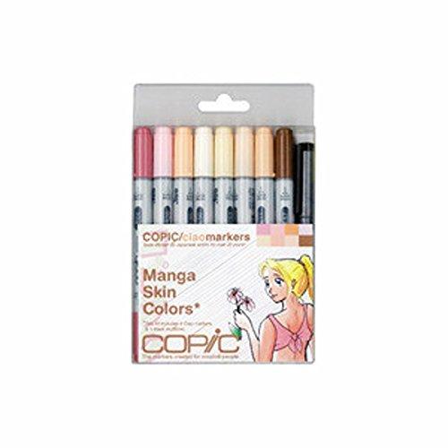 - Copic Marker 9-Piece Ciao Manga Set, Skin