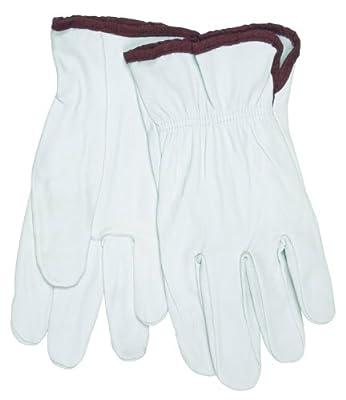 MCR Safety 3601XXXL Premium Grain Goatskin Driver Gloves with Straight Thumb, White, 3X-Large, 1-Pair