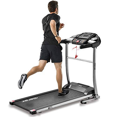 BORNDO Easy Assembly Electric Folding Treadmill with Treadmills for Home, Walking Running Jogging Fitness Machine with Backlit LCD Display for Home & Gym Cardio Fitness