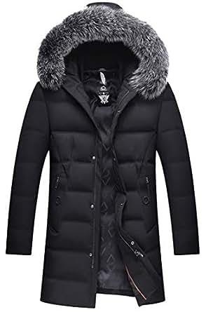 Britainlotus Men's Winter Thicken Cotton Jacket with Fur