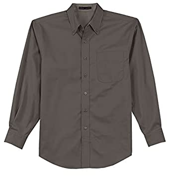 Kamal ohava men 39 s long sleeve wrinkle free button down for Wrinkle free dress shirts amazon