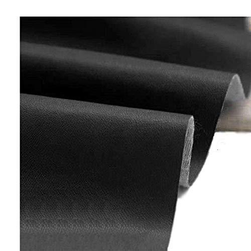 (Mybecca Black Marine Upholstery Vinyl Black Weatherproof Faux Leather Finish Vinyl Fabric Per Yard)