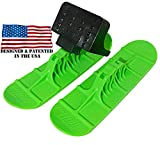 Railz Original Snow Sled Ski Scooter Kit for All Ages. Youth/Adult Ski Kit for Snow Kick & Ski Skooters. Turn Your Favorite Street Kick Scooter into a Snow Scooter. (Green)