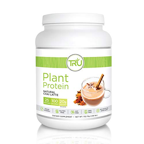 Aria Protein -    TRU Plant Based Protein Powder, Natural Flavor, Vegan Friendly, No Artificial Sweeteners, No Dairy, No Soy, 25 Servings, Chai Latte