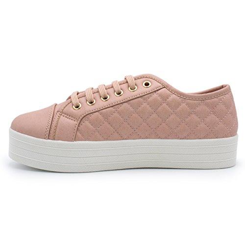 Breckelles - Donna Sneaker Di Moda Trapuntata Morbida Arrossisce