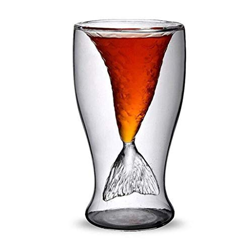 UMFunMermaid Theme 100mL Vodka Shot Wine Whiskey Beer Bar Glass Drinking Decanter Cup]()