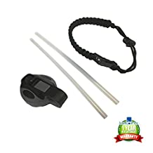 Paracord Survival Strap Handle & Straw Lids by Blusquares® Fits All Hydro Flask Wide Mouth 18oz, 32oz, 40oz & 64oz