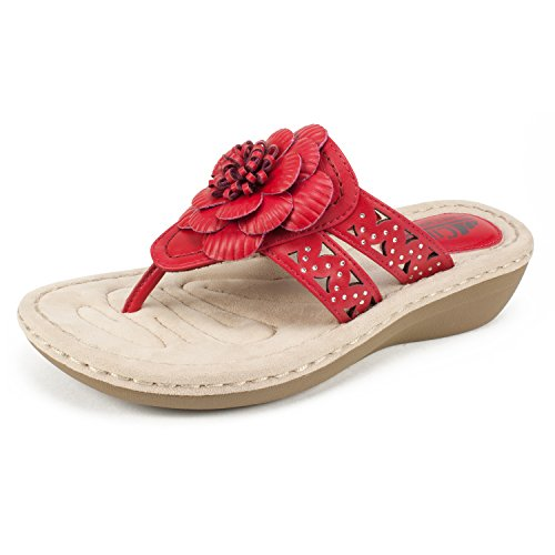 Mountain Women's by Red White Cliffs Berry Sandal Cynthia Shoes FXaEcyq