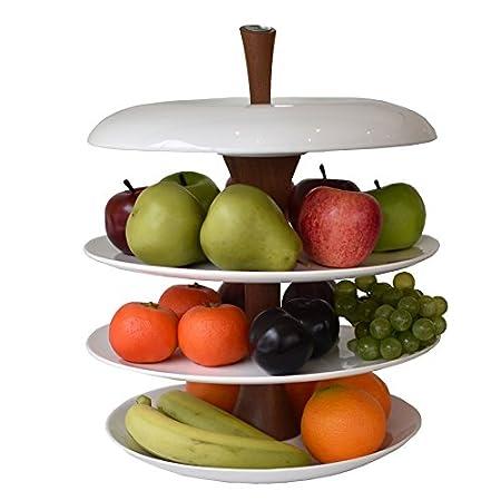 White ceramic fruit bowl by Fruit Tier: Amazon co uk