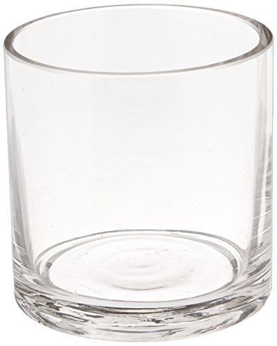 WGV Clear Cylinder Glass Vase/Votive Candle Holder, 3-Inch ()