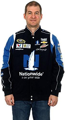 - Dale Earnhardt Jr #88 Nationwide Black Cotton Twill NASCAR Racing Jacket (3X)