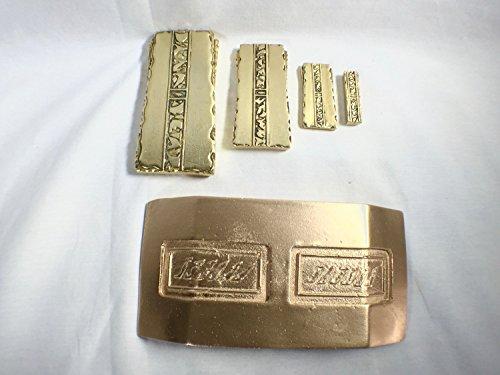 Star Trek, Deep Space Nine, Metal Gold Pressed Latinum 5 Piece Set
