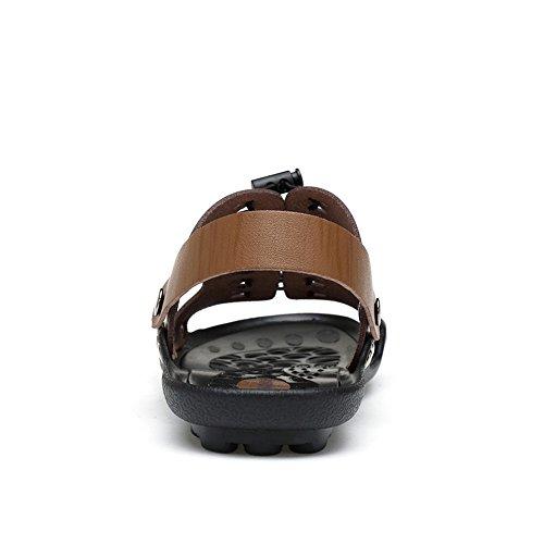 Remache expuesta de Zapatilla EU Antideslizante Sandalias para Antideslizante Caqui Hombre de Personalidad 42 Color tamaño con Playa Doble amp;Baby Casual Puntera Sunny Caqui finalidad YZwv6v
