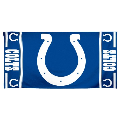 WinCraft NFL Indianapolis Colts 30 by 60 Fiber Reactive Beach ()