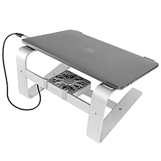"""Macally Laptop Stand with Cooling Fan for Desk 