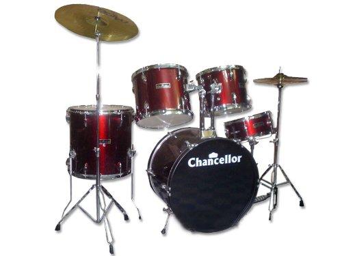 Chancellor Jbp0803 5 Piece Drum Set Black Amazon In Musical