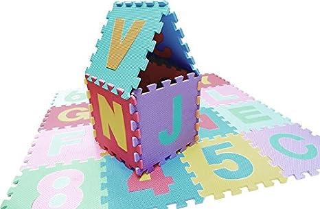18 Piece Pastel Edz Kidz Interlocking Foam Play Mat Set