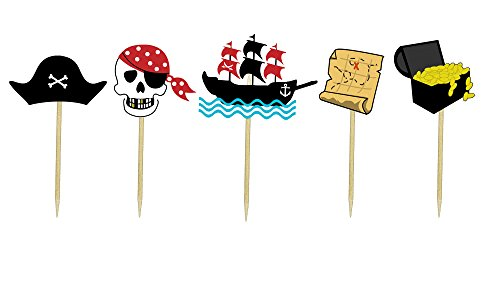 Pirates Theme Cupcake Toppers (Mickey's Halloween Party Fireworks)