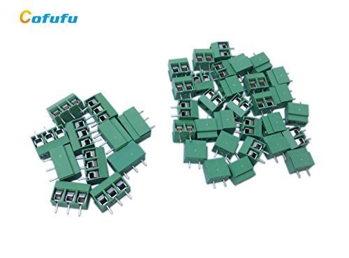 30Pcs 2P 5mm Pitch PCB Mount Screw Terminal Block 8A 250V + 10Pcs 3P 5mm Pitch PCB Mount Screw Terminal Block 8A 250V , RoHS