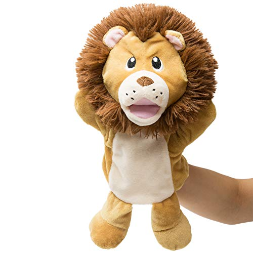 - HollyHOME Hand Puppets Lion Plush Animal Zoo Animal Puppets 14 Inches Yellow