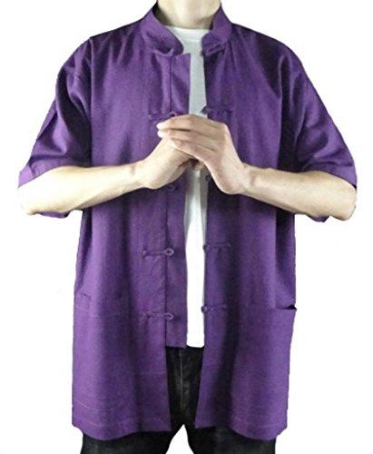 aus Baumwolle Tai Lila Maßgeschneidertes Chi Lila Handgefertigt Weicher 126 Hemd 0w0XngW