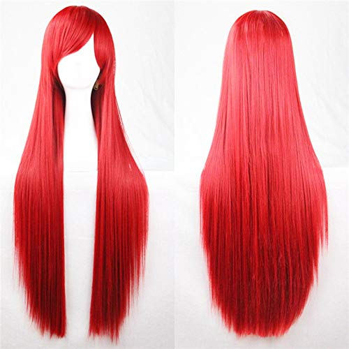 (1 piece brand new 80cm 5 colors fashion full wig long straight wigs cosplay party women costume anime periwig hair styling)