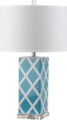 Safavieh Lighting Collection Garden Light Blue Lattice 27-inch Table Lamp (Safavieh Lattice)