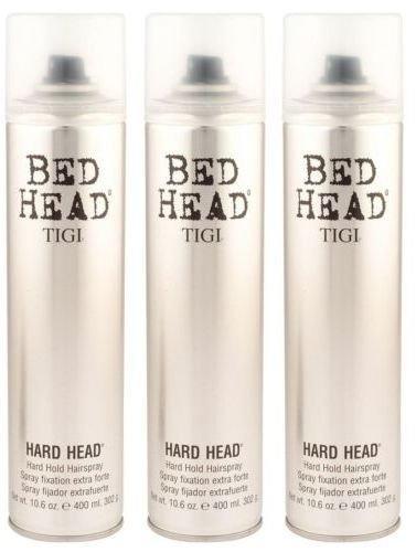 Tigi Bed Head Hard Head Spray 10.6 Oz Each (Pack of 3) (Tigi Hard Head)