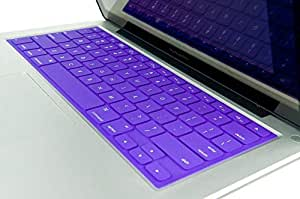 "Kuzy Keyboard Solid Cover Silicone Skin for Macbook Pro 13"" 15"" 17"" and Macbook Air 13"" Purple"