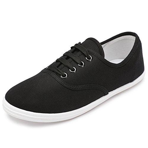 Arriba Las Deporte Colores Odema Tenis Atan Disponibles Mujeres Zapatos Para Lona Zapatillas De Negro 8 Atléticos Básicos 1RRSzq